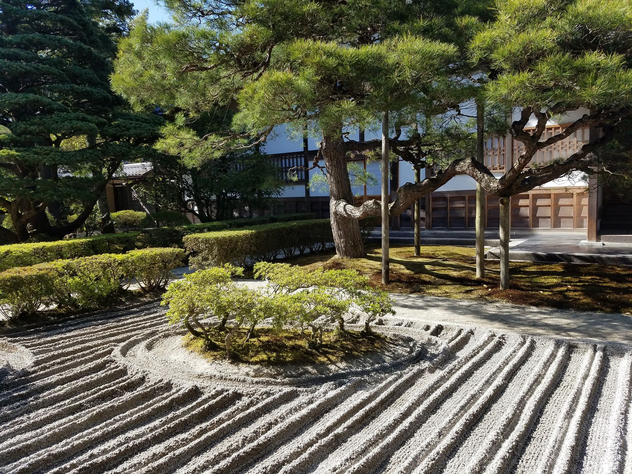 Sand and stone garden in Ginkaku-ji (Silver pavilion) temple, Kyoto