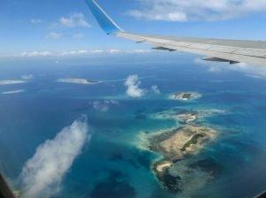 Занзибар, гледка от високо, от самолета