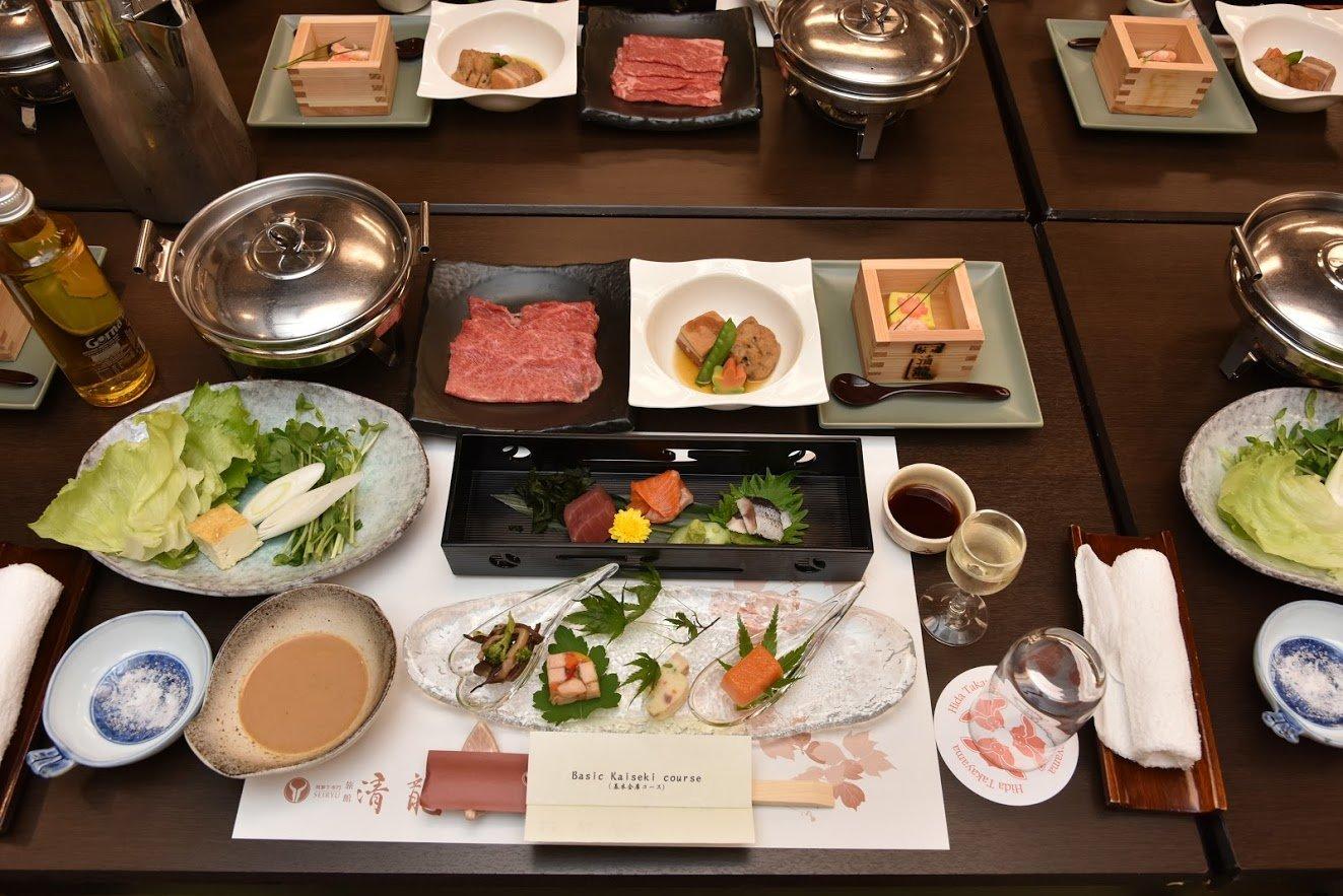 Traditional Japanese dinner, Takayama
