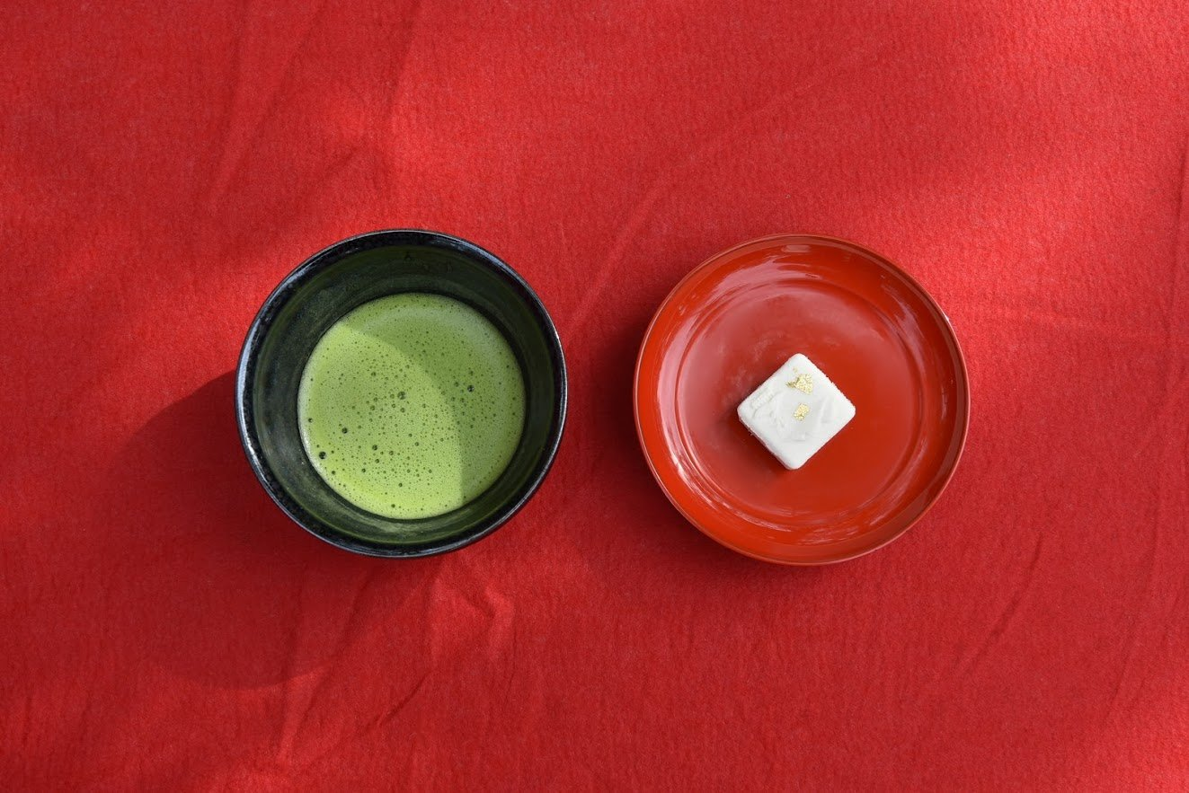 Matcha and wagashi, tea ceremony