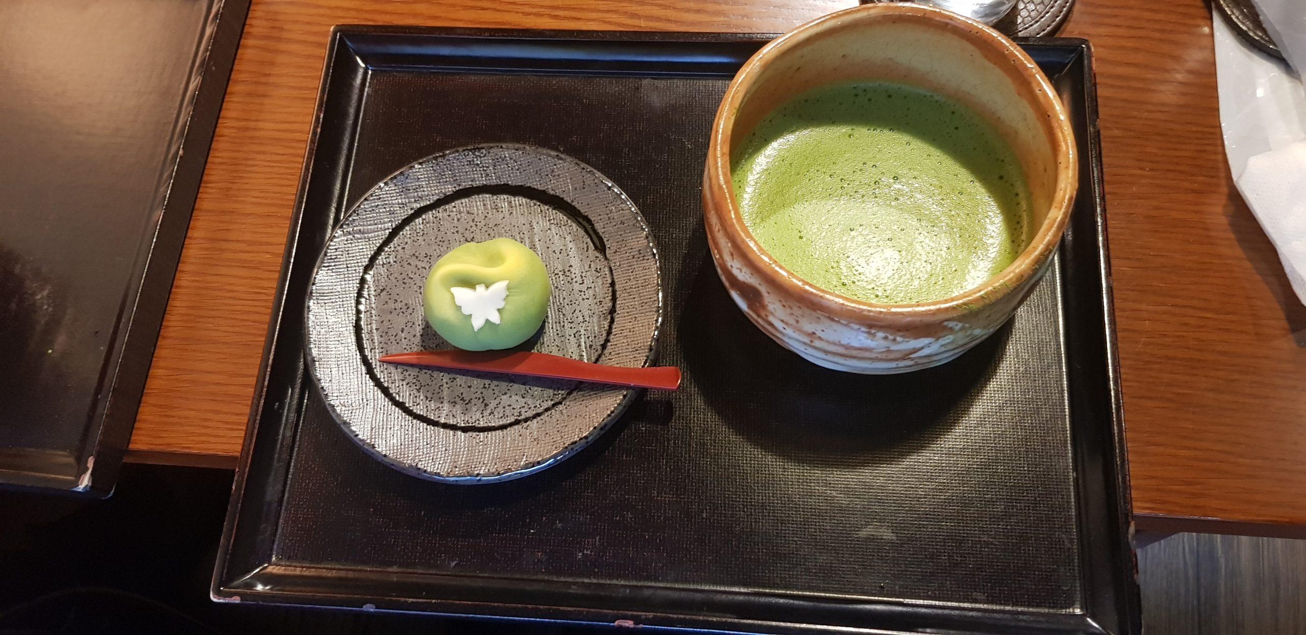Matcha and wagashi