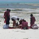 Масаи търгуват на плажа