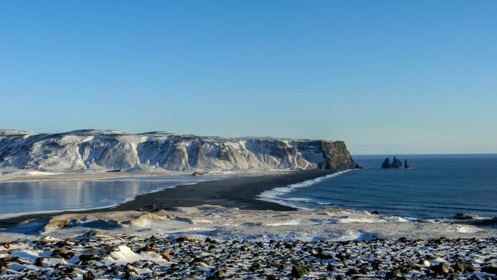 Iceland, black beach, vik,