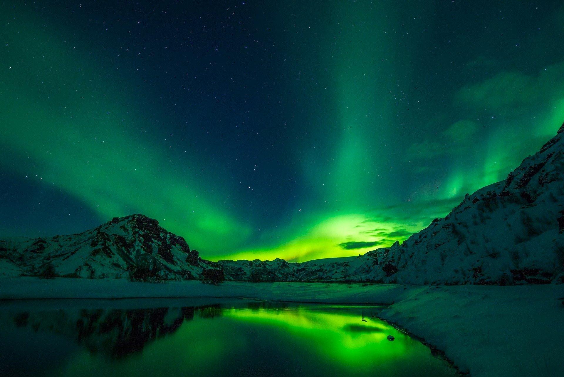 Iceland, nature, Aurora