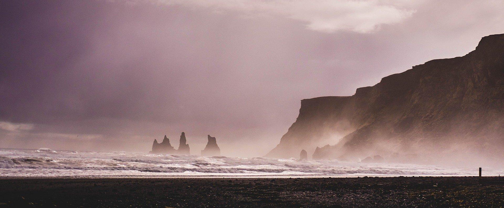 Iceland, nature, Black beach, Vik