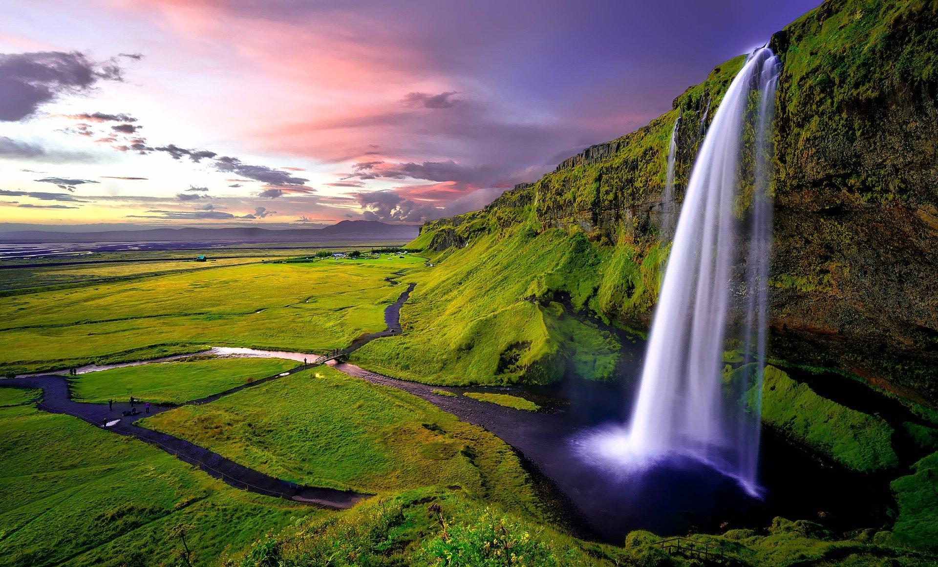 Seljalandsfoss waterfall, Iceland, Narure
