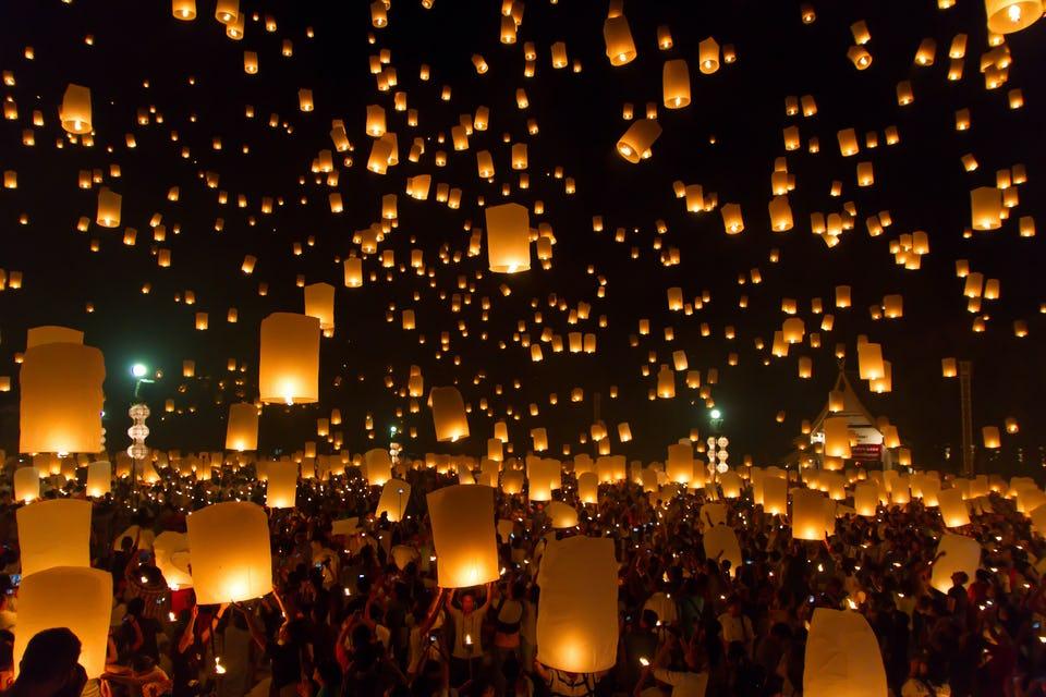 Фестивал на фенерите в Китай
