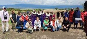 На гости при масаите в Нгоронгоро, група 2021г.