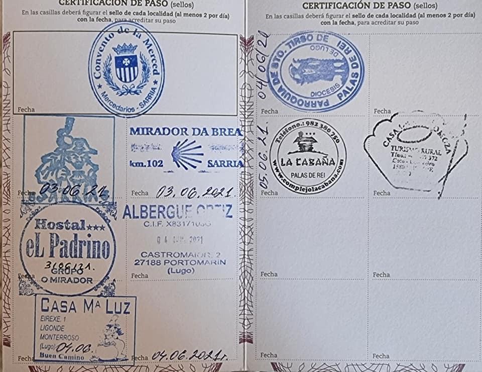 Печати в пилгримския паспорт