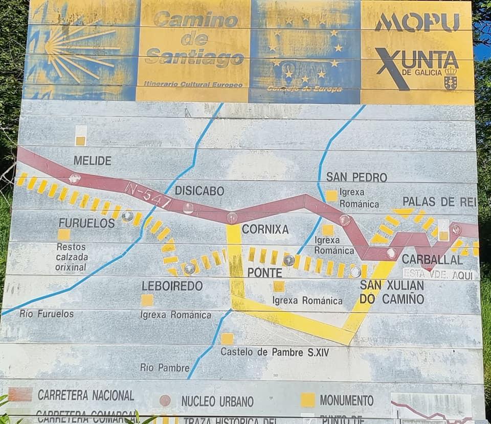 Карта с един от дните по маршрута