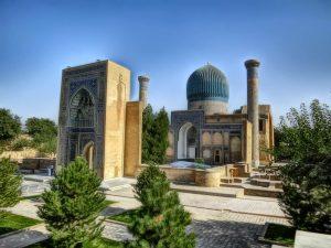 гледка към Мавзолей Гур Амир, Самарканд