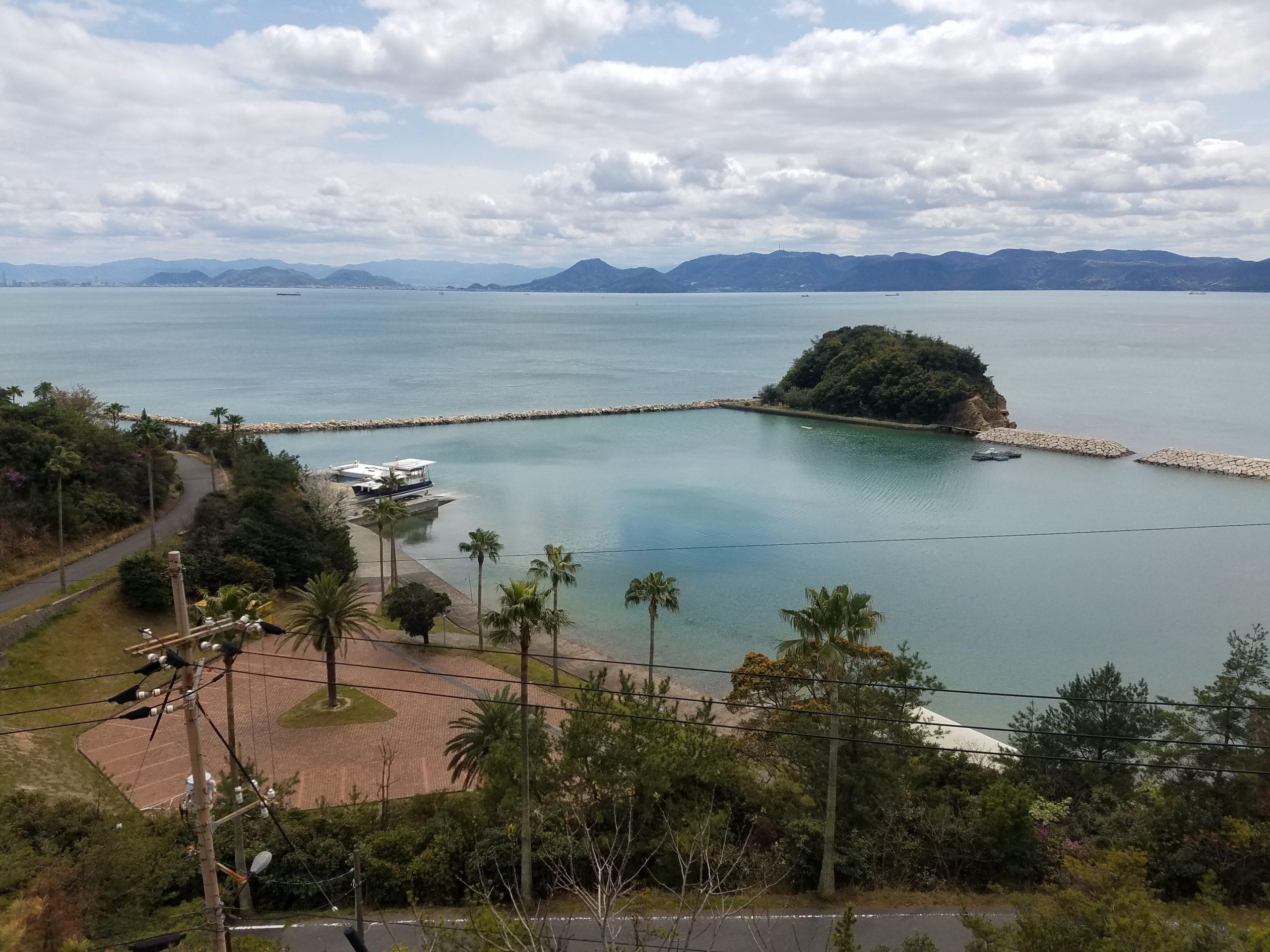 Остров Наошима, поглед от високо