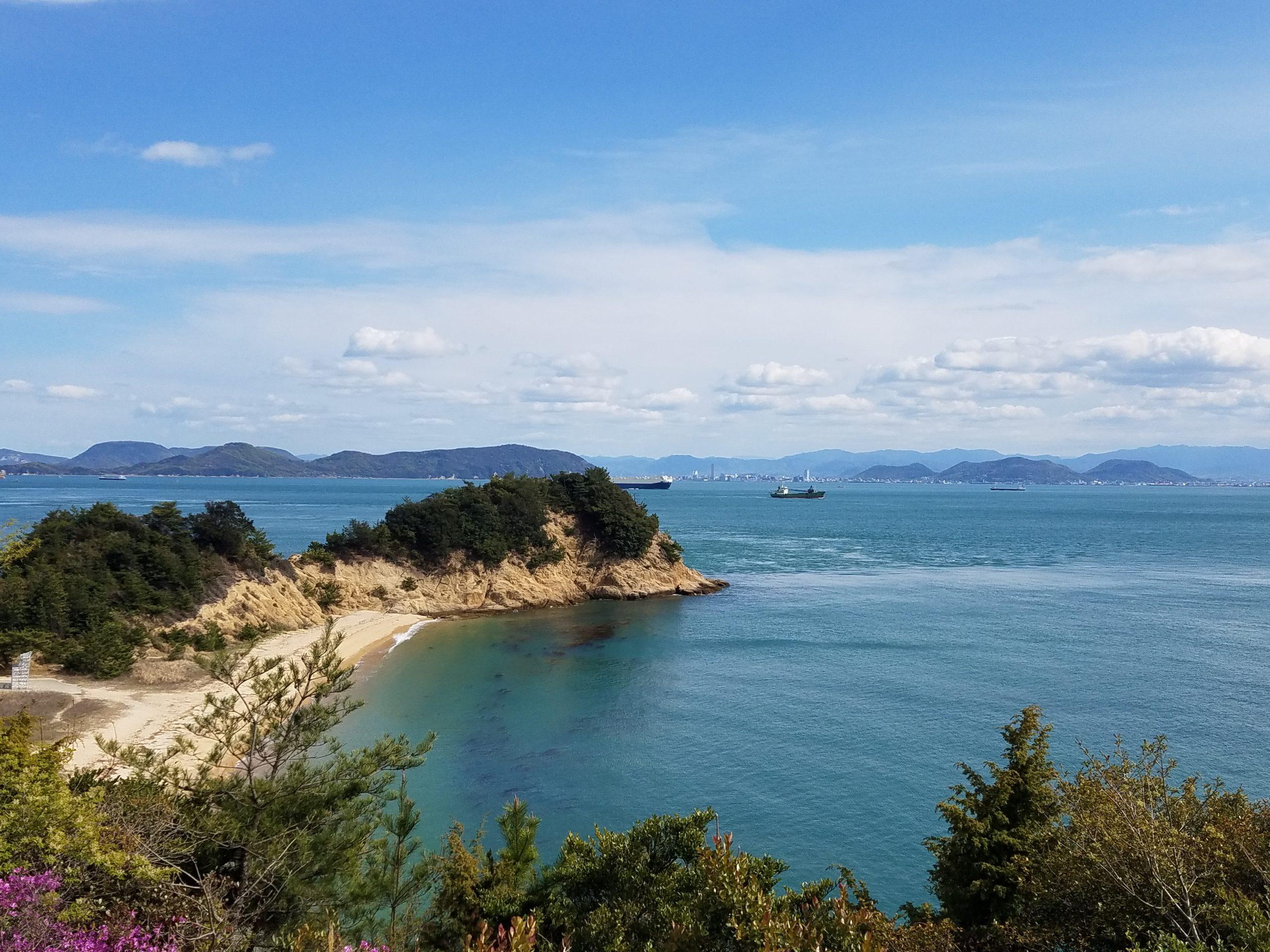 Остров Наошима, поглед към морето